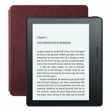 "NEW AMAZON KINDLE OASIS+LEATHER CHARGE COVER Merlot 6"" WIRELESS EREADER~IN STOCK"