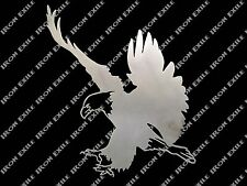 Bald Eagle Metal Art Wall Sign Hunting Cabin Decor Freedom America Motorcycle