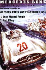 Fangio-mercedes 1954race impresión A3.. reducidos gastos de envío de esta impresión para pedidos Reino Unido!