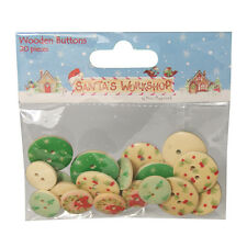 Helz Cuppleditch Santa's Workshop Wooden Buttons