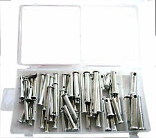 60 PACK ASSORTED CLEVIS PINS NEW BOXED