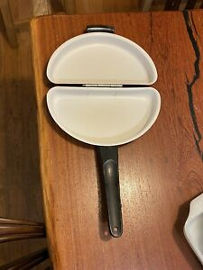 Mirro Corp. Folding Omelet/Omelette Pan-- Brown Color Nonstick