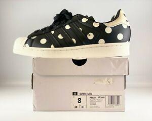 Adidas Originals Superstar Womens Shoes Size 8 Polka Dot Off White FZ0154
