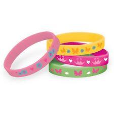 4pk Woodland Princess Rubber Bracelets Birthday Party Loot Bag Favours