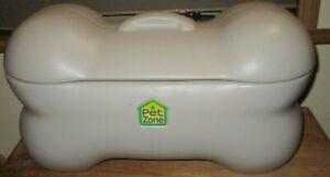 "Pet Zone Large 24"" Bone Shaped Dog Toy Storage Box Bin with Lid GUC"
