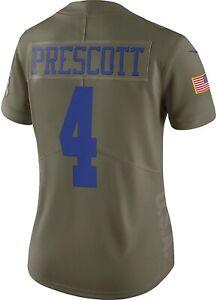 SALUTE TO SERVICE DAK PRESCOTT NFL WOMEN NIKE JERSEY Stitched