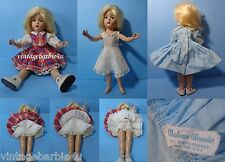 """Vintage Antique Girl Doll 13"""" Composition Madame Alexander Dress Tagged Panties"""