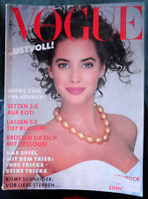 Vtg Vogue Deutsch 6/1987 Christy Turlington Stephanie Seymour Linda Evangelista