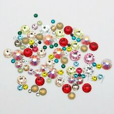 Nail Art Mixed Multisize Shiny Flat Back Rhinestone Gems Crystals Decoration