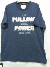 W3209 Caterpilar Blue w/Sewed on Letters Short Sleeve NWT T-shirt Men L
