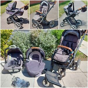 Mutsy Evo Complete Travel System - Industrial / Grey - Great Condition