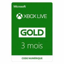 Abonnement Xbox Live Gold 3 mois  Xbox Live Code Jeu A Télécharger