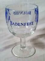 VINTAGE ST LOUIS BADENFEST 16 OZ STEMWARE THUMBPRINT SOUVENIR GLASS / MUG