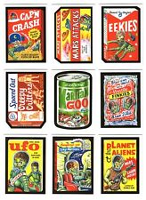 MARS ATTACKS OCCUPATION WACKY PACKAGES 9 PROMO CARD PUZZLE BACK SET PLUS HEADER