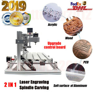 Upgrade CNC3018 DIY CNC Router 2IN1 3 Axis Laser Engraving Machine Wood Carving