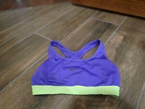 Nike Dri-Fit Women's Purple/Green Sports Bra Size SP