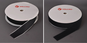 CLEARANCE - BLACK ADHESIVE VELCRO -  mixed bundle of widths - approx 90 mtrs