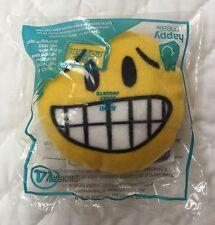 "McDonalds Ahh! Plush Emoji #14 Yellow Circle Face Emoticon 4"" Head Nervous NEW"