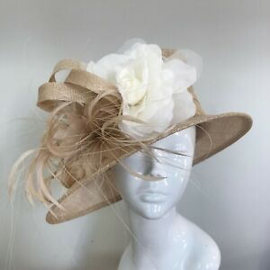 Exclusive Mocha & Cream Millinery by Hat Couture Wedding Bridal Race Hat