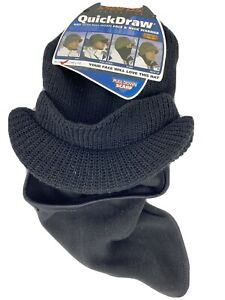 Seirus Quick Draw Hat With Pull Down Face Mask And Neck Warmer Mens One Size
