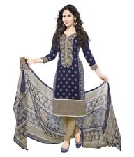 Unstitched patiyala Kameez Synthetic Designer Punjabi Suit Indian Pakistani