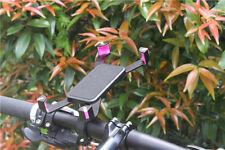 Handy Smartphone Halterung Fahrrad Lenker Halter Bike  360° schwarz-pink