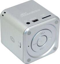SA-101 BT JAY-tech Mini Bass Cube Bluetooth Lautsprecher silber Mp3 Player Akku