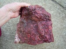 Red Jasper Rough Rock For Cabbing / Display From Chile 17 lbs 10.40 oz