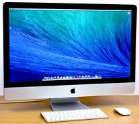"Apple iMac 27"" Mac 2011-2012 / THREE YEAR WARRANTY / Mac Desktop Computer / SSD!"