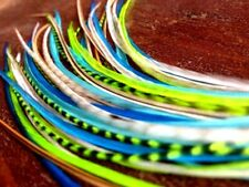 """*SALE* 30pcs. (Neons) Long 8""""-13"""" Feather Hair Extension, Whiting Farms, DIY Kit"""