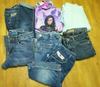 Lot of Girls Size 12 Clothing x 8 Pc. Disney Justice Levi Gap Kids Lei Jeans PJ