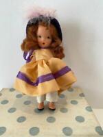 NASB Nancy Ann Storybook Bisque Doll 131 Elsie Marley Orig Hangtag, Box FR 40's