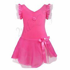 Girls Gymnastics Leotard Dress Kid Ballet Dance Tutu Skirt Dancewear Costume New
