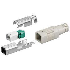 USB B-Stecker werkzeugfreie Crimp-Montage zur Kabelkonfektion 50-er Pack !!!
