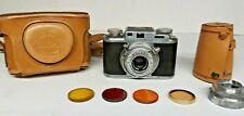 Vintage Bolsey Model B2 35mm 1950's Camera Wollensak with Case and filter set