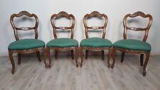 quattro eleganti sedie antiche in noce massello metà 1800 Sec. XIX Luigi Filippo