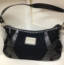 NEW! AUTHENTIC XOXO ISABELLE BLACK HOBO BAG PURSE $52 SALE