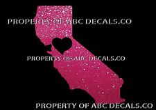 VRS State California Northern Nor Cal Love Heart City Car Decal Metal Sticker
