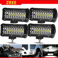 4X 400W 7'' LED Arbeitsscheinwerfer Offroad Scheinwerfer Bagger SUV 12V 24V IP67