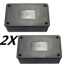 2x Black ABS Plastic Electronics Enclosure Project Box Case 103x64x40mm DIY