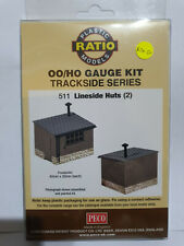 Ratio 511 Lineside Huts  (two per pack) Kit OO scale