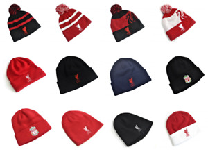 Liverpool FC Winter Beanie Turn Up Ski Bobble Liver Bird Men Women Knitted Hat
