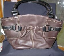 #STUNNING TIGNANELLO BUCKET HOBO BROWN PURSE WITH SIGNATURE KEY FOB bag handbag