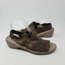 Bzees Brown Woven Slingback Strap Comfort Slip On Sandal Slides Women Size 8 M