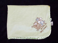 Looney Tunes Bugs Bunny Taz Green Baby Blanket Cute As They Come Satin Lovey