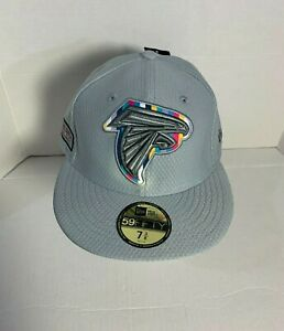New Era Atlanta Falcons Crucial Catch 59Fifty Fitted NFL Cap Hat Mens Size 7 3/8
