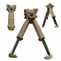 Tactical Shooting Polymer Rotating Bipod Foregrip Tpod T-POD System Tan Color