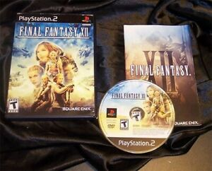FINAL FANTASY XII - SONY PLAYSTATION 2 / PS2 - COMPLETE - BLACK LABEL NICE! - lw