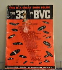 The 33 BY BVC Sheet Music 1950'S This is a great song folio! Words and Music