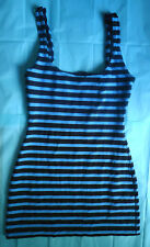 Nicole Miller blue and black striped mini dress - Size S